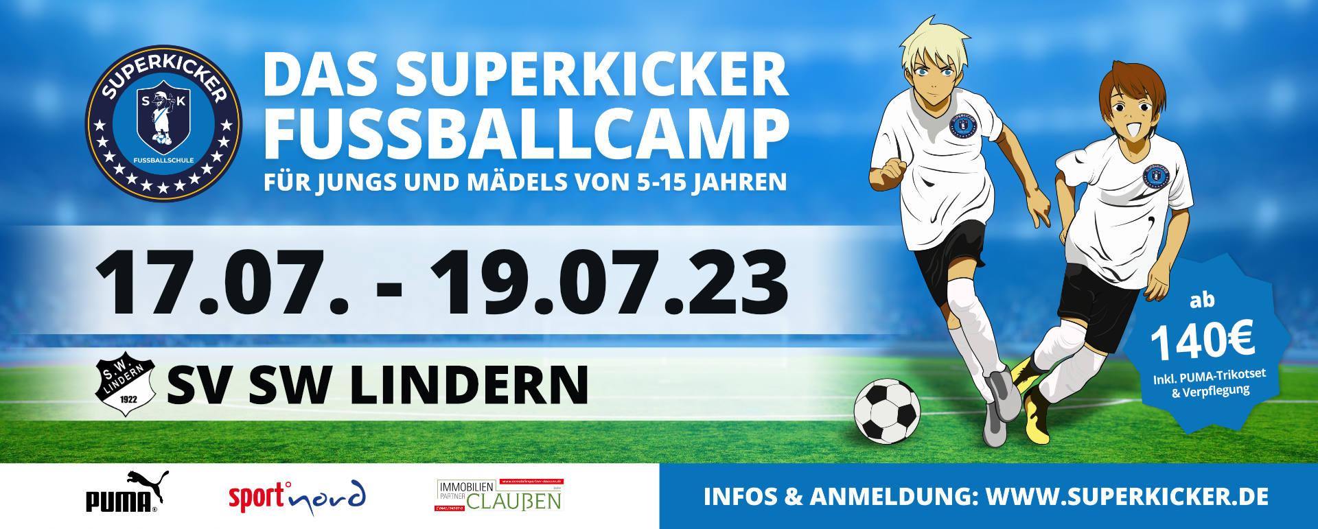 Superkicker-Fußballcamp SW Lindern